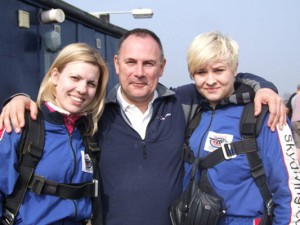 Skydiving hairdressers!